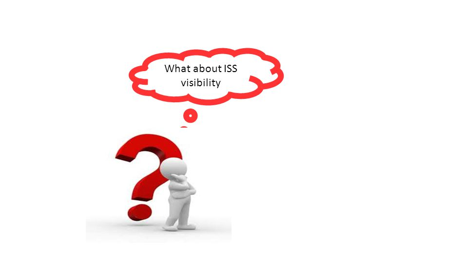 What about ISS visibility