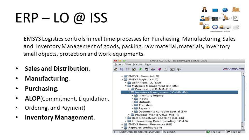 ERP – LO @ ISS Sales and Distribution. Manufacturing.