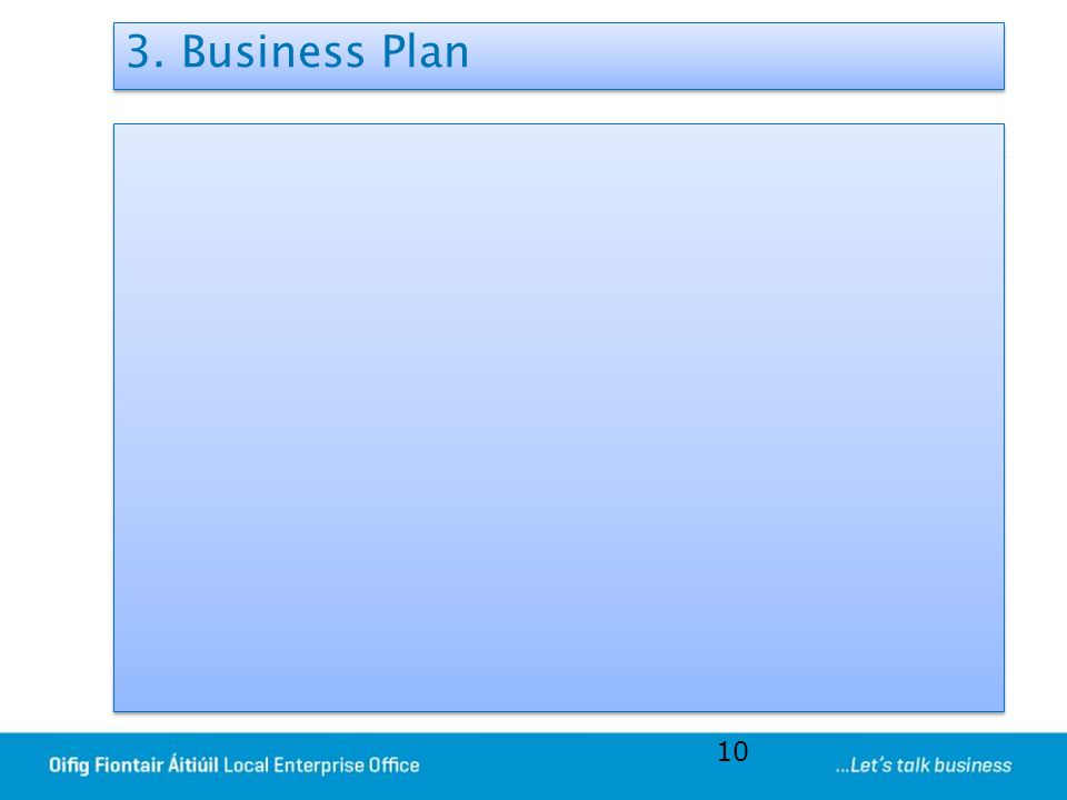 3. Business Plan 10