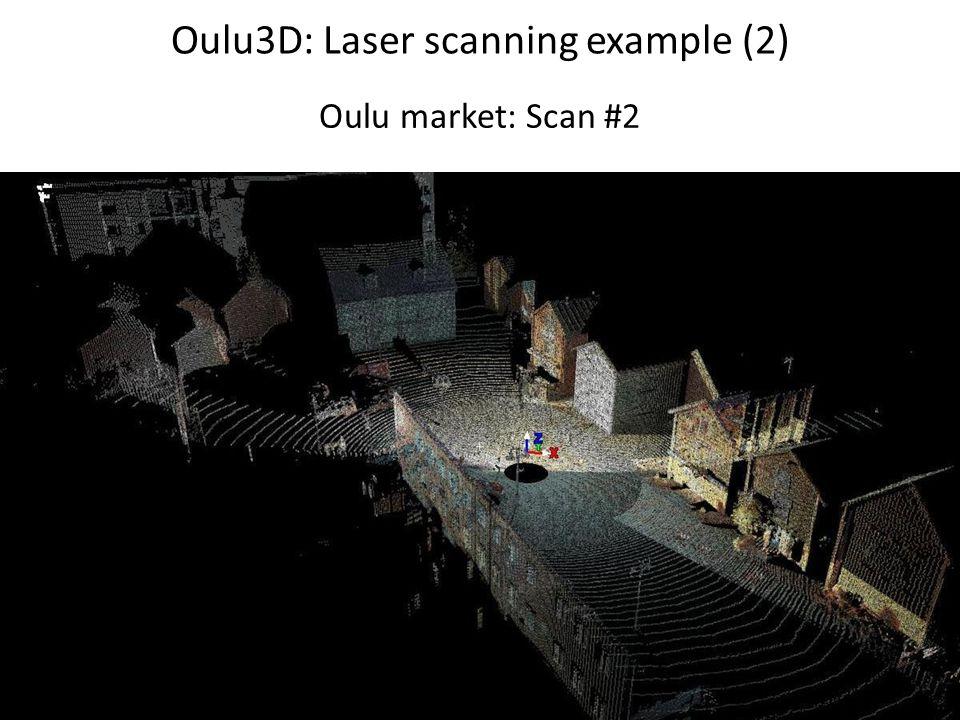 Oulu3D: Laser scanning example (2) Oulu market: Scan #2