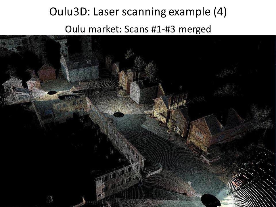 Oulu3D: Laser scanning example (4) Oulu market: Scans #1-#3 merged
