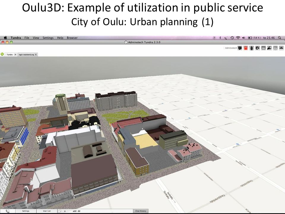 Oulu3D: Example of utilization in public service City of Oulu: Urban planning (1)