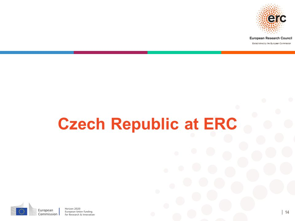 Established by the European Commission │ 14 Czech Republic at ERC