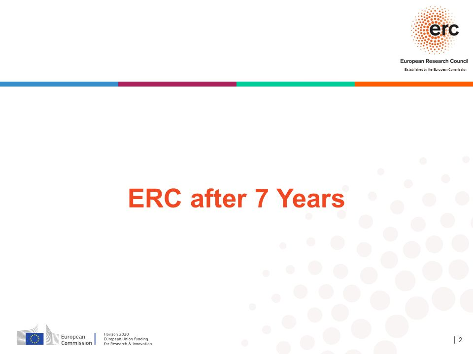 Established by the European Commission │ 2 ERC after 7 Years