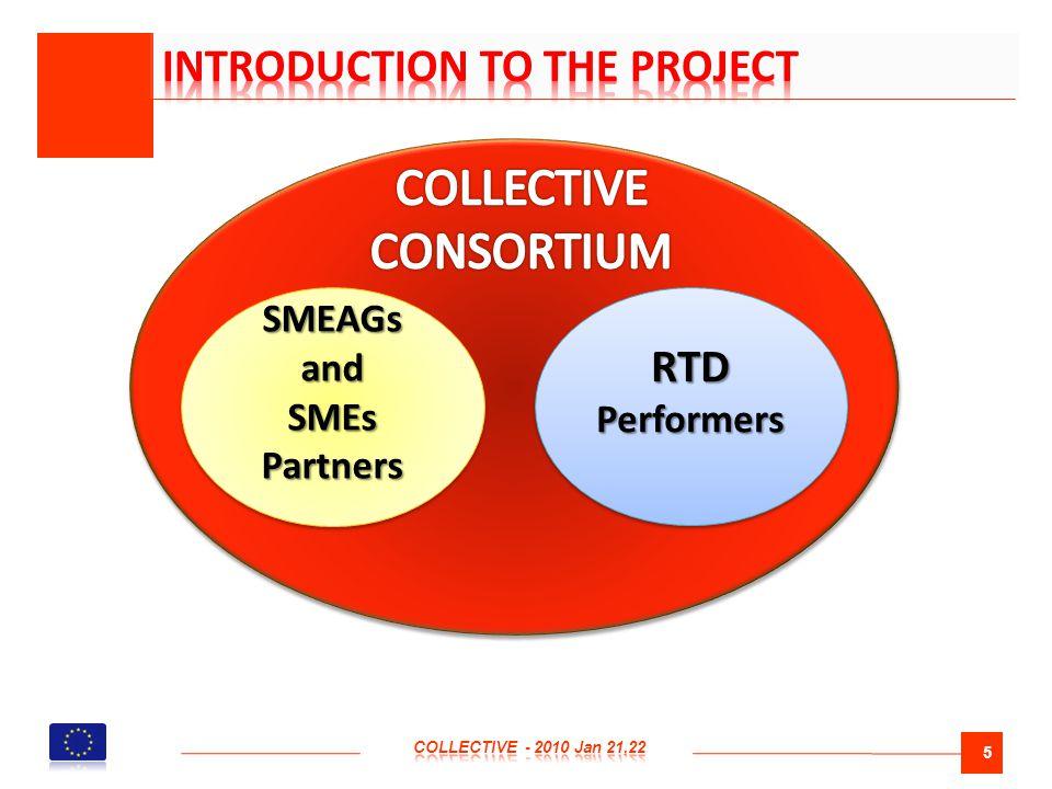 5 SMEAGs and SMEs Partners SMEAGs and SMEs Partners RTD Performers