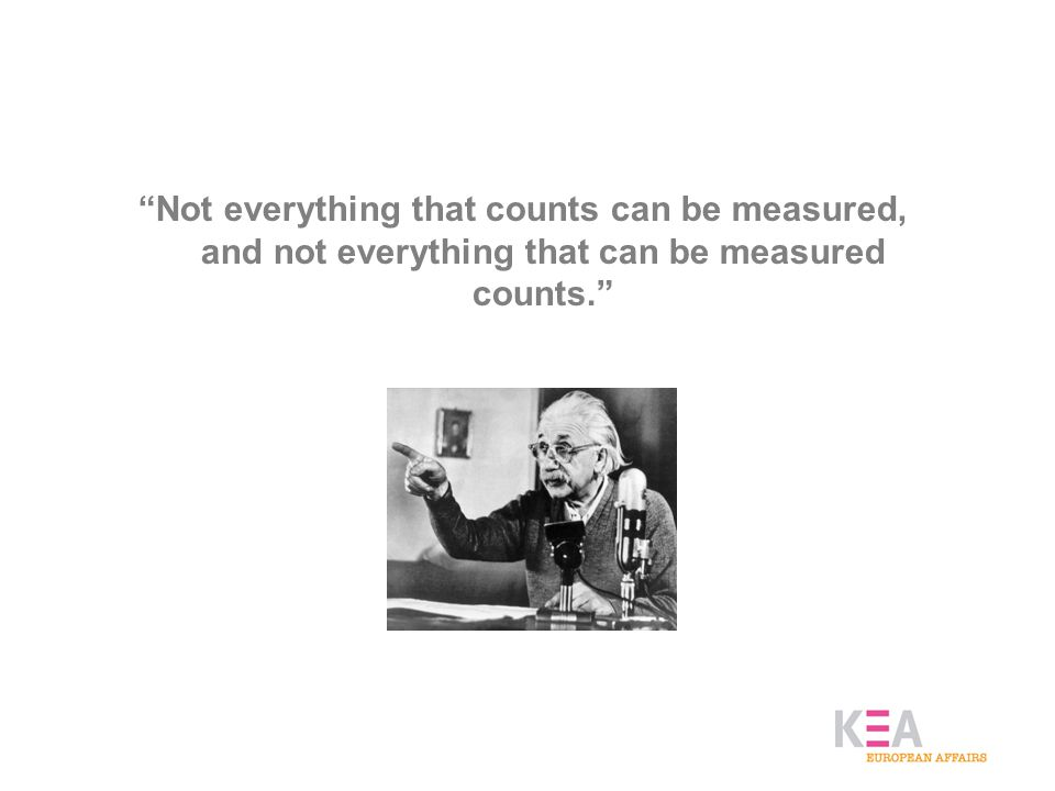 Not everything that counts can be measured, and not everything that can be measured counts.