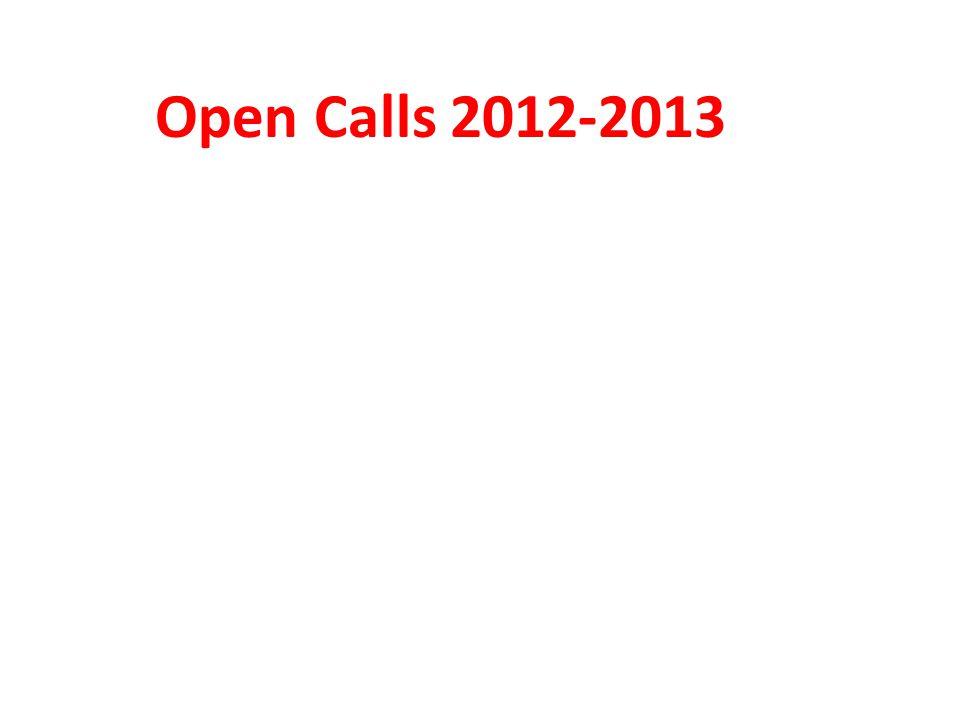 Open Calls 2012-2013