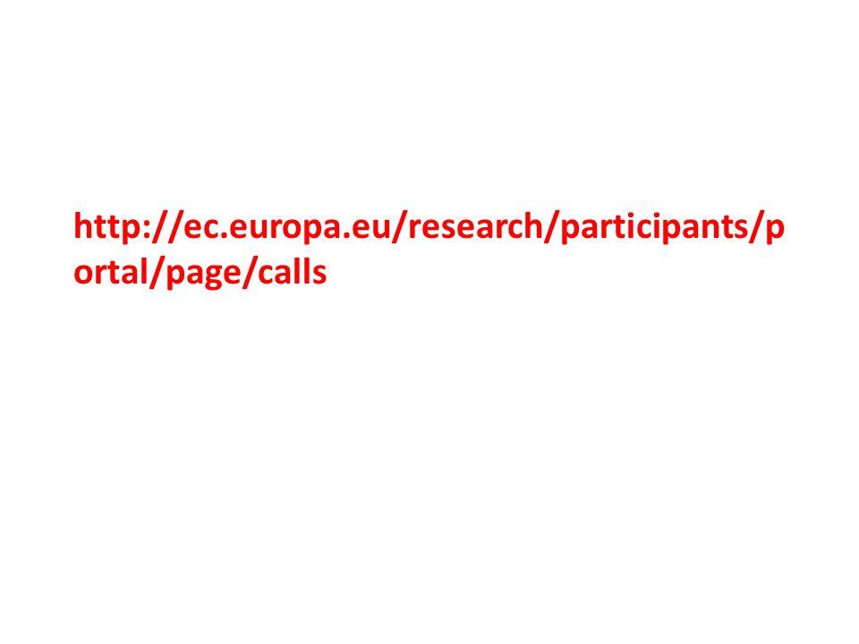http://ec.europa.eu/research/participants/p ortal/page/calls