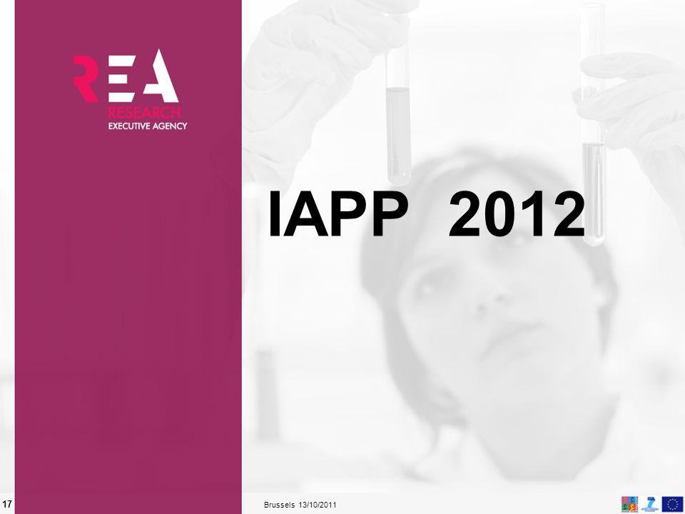 13/10/2011 Brussels 17 IAPP 2012