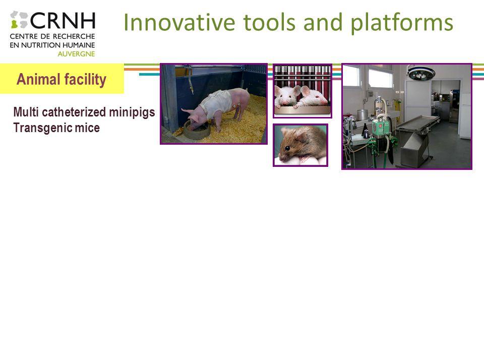 Animal facility Metabolism study platform Predictive biology, biomarkers Innovative tools and platforms