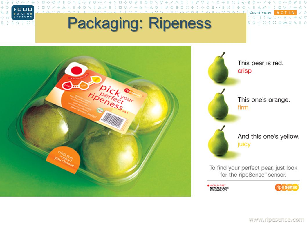 Packaging: Ripeness www.ripesense.com