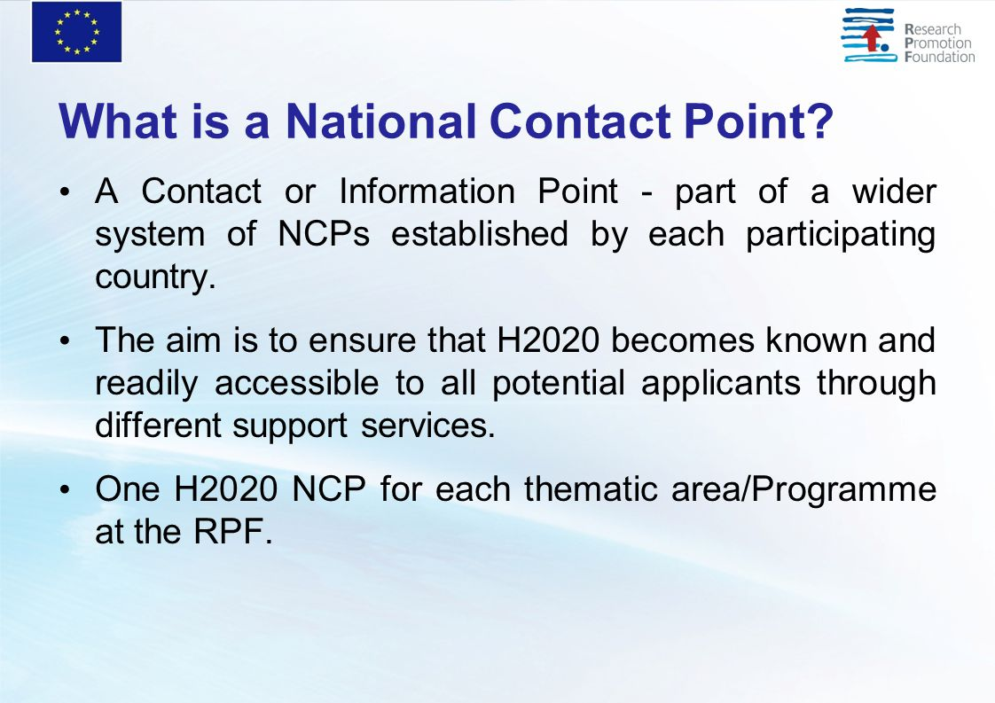 What is a National Contact Point.