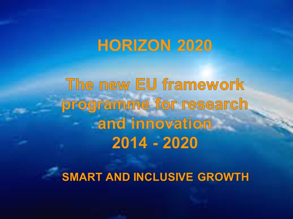 A project implemented by the HTSPE consortium This project is funded by the European Union SMART AND INCLUSIVE GROWTH