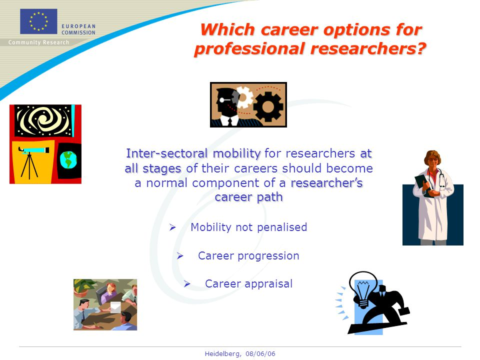 Heidelberg, 08/06/06 Which career options for professional researchers.