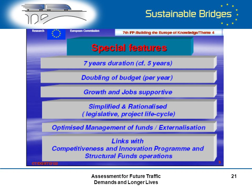 Assessment for Future Traffic Demands and Longer Lives 21