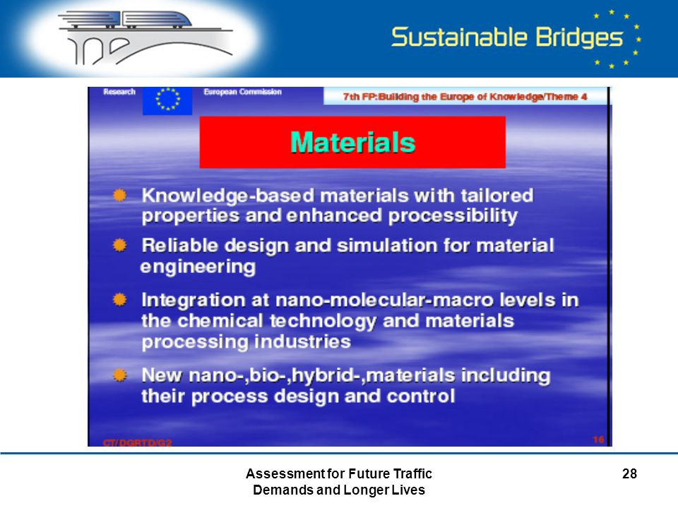 Assessment for Future Traffic Demands and Longer Lives 28