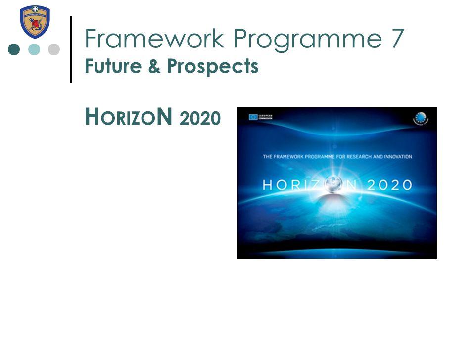 Framework Programme 7 Future & Prospects H ORIZO N 2020