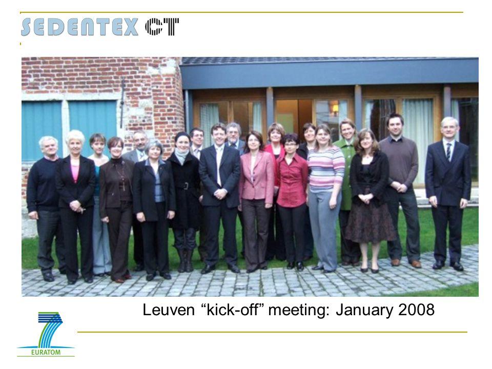 Leuven kick-off meeting: January 2008