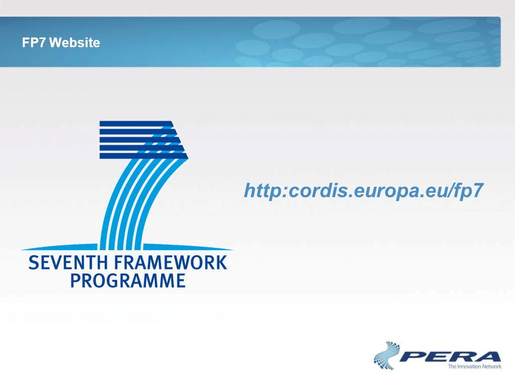 FP7 Website http:cordis.europa.eu/fp7
