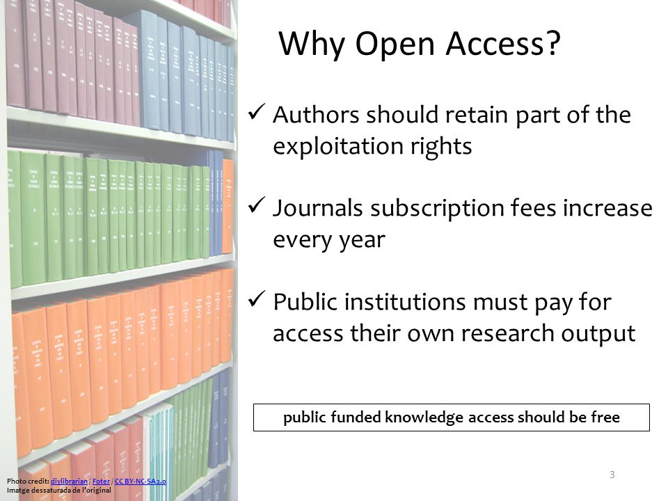 3 Why Open Access.