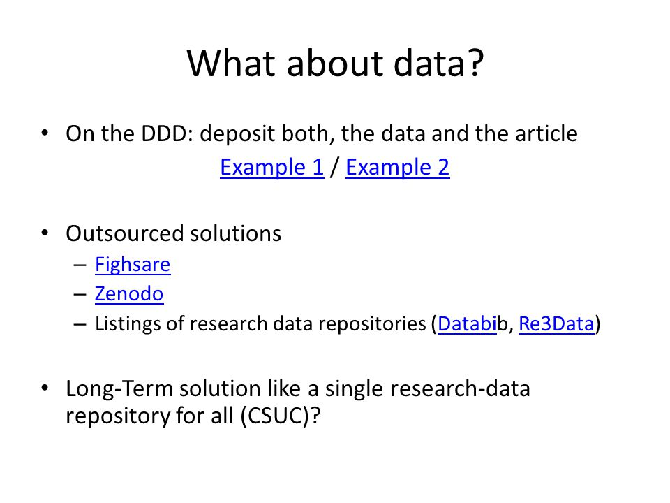 What about data.