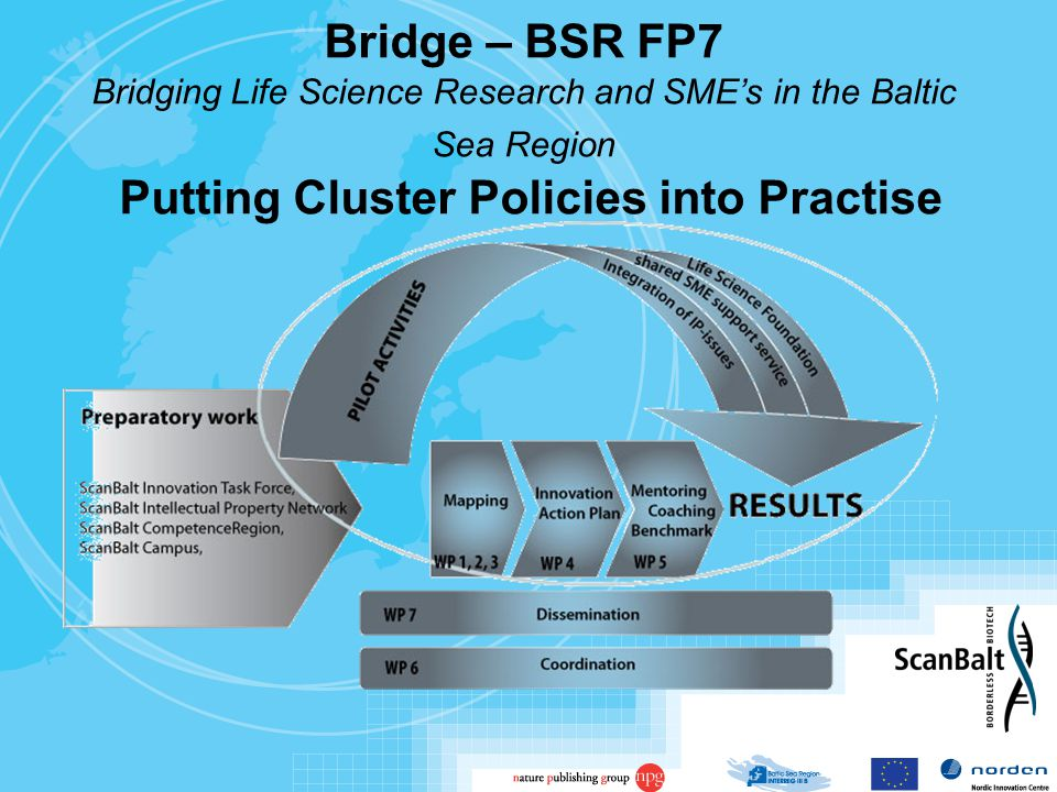 Bridge – BSR FP7 Bridging Life Science Research and SME's in the Baltic Sea Region Putting Cluster Policies into Practise