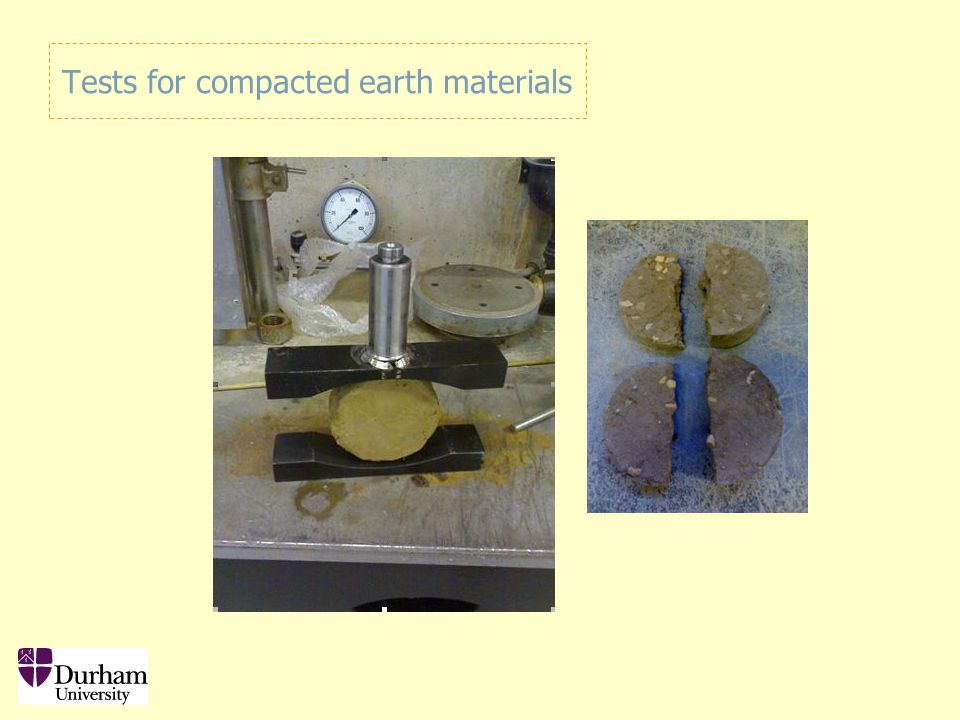Tests for compacted earth materials