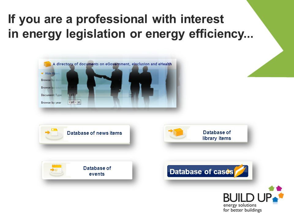 If you are a professional with interest in energy legislation or energy efficiency...