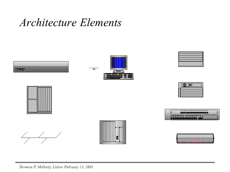 Terrence P. McGarty, Lisbon February 13, 2003 Architecture Elements
