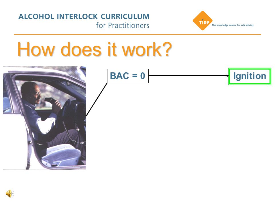 How does it work BAC = 0 Ignition