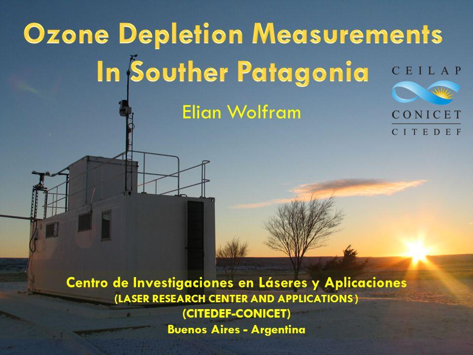 Elian Wolfram Centro de Investigaciones en Láseres y Aplicaciones (LASER RESEARCH CENTER AND APPLICATIONS ) (CITEDEF-CONICET) Buenos Aires - Argentina