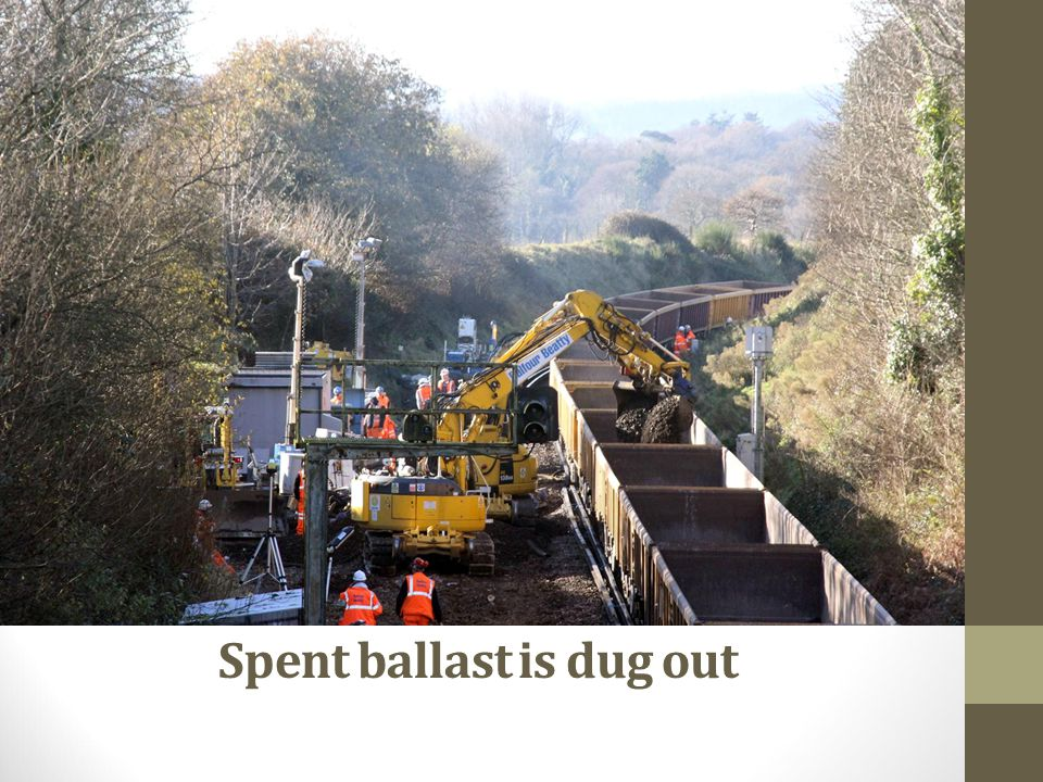Spent ballast is dug out