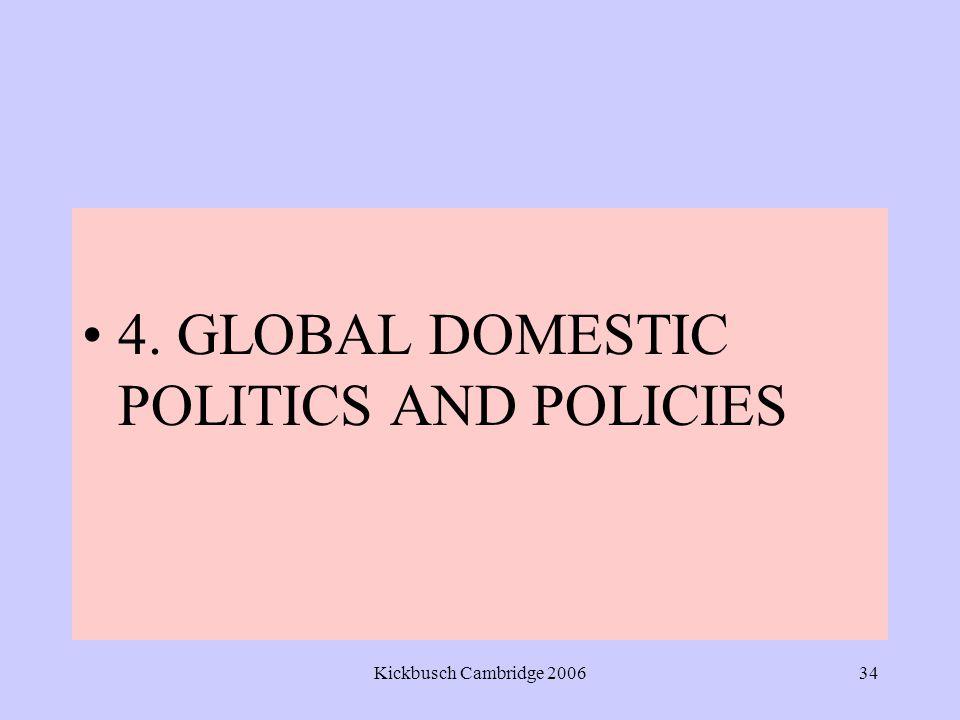 Kickbusch Cambridge 200634 4. GLOBAL DOMESTIC POLITICS AND POLICIES