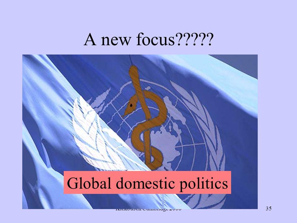 Kickbusch Cambridge 200635 A new focus Global domestic politics