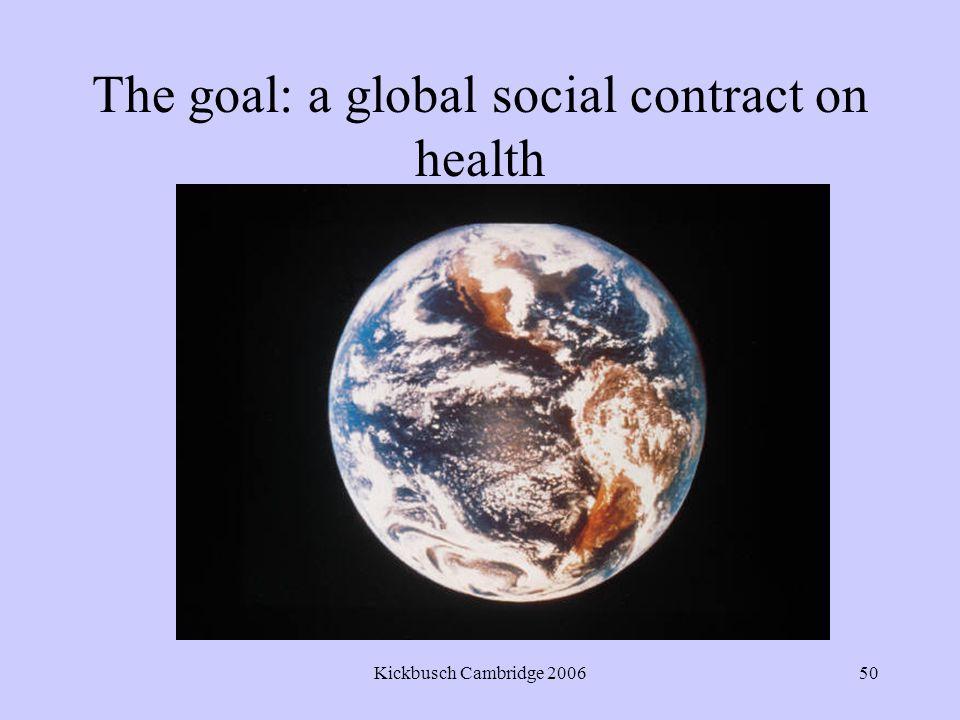 Kickbusch Cambridge 200650 The goal: a global social contract on health