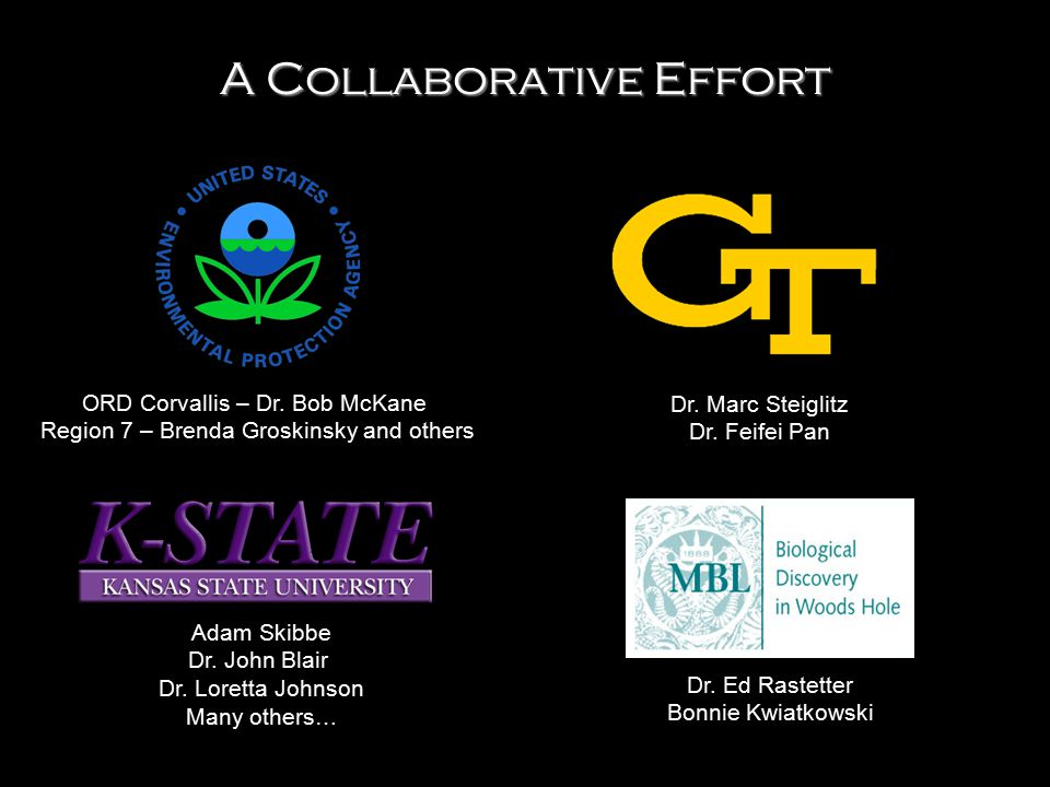 ORD Corvallis – Dr. Bob McKane Region 7 – Brenda Groskinsky and others A Collaborative Effort Dr. Marc Steiglitz Dr. Feifei Pan Dr. Ed Rastetter Bonni