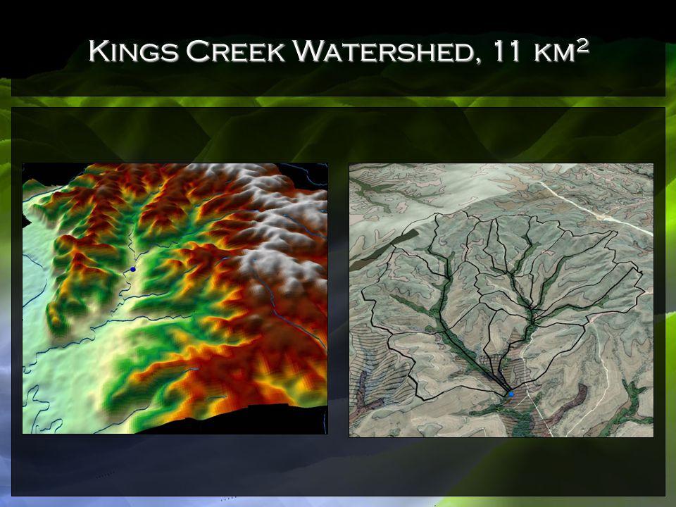 Kings Creek Watershed, 11 km 2