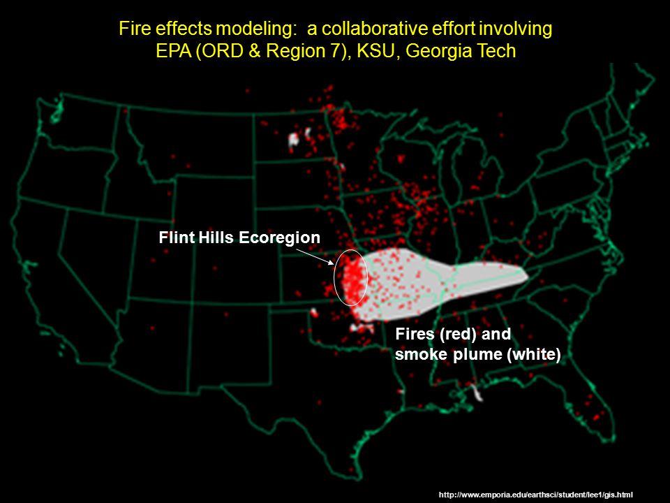 Fire effects modeling: a collaborative effort involving EPA (ORD & Region 7), KSU, Georgia Tech http://www.emporia.edu/earthsci/student/lee1/gis.html