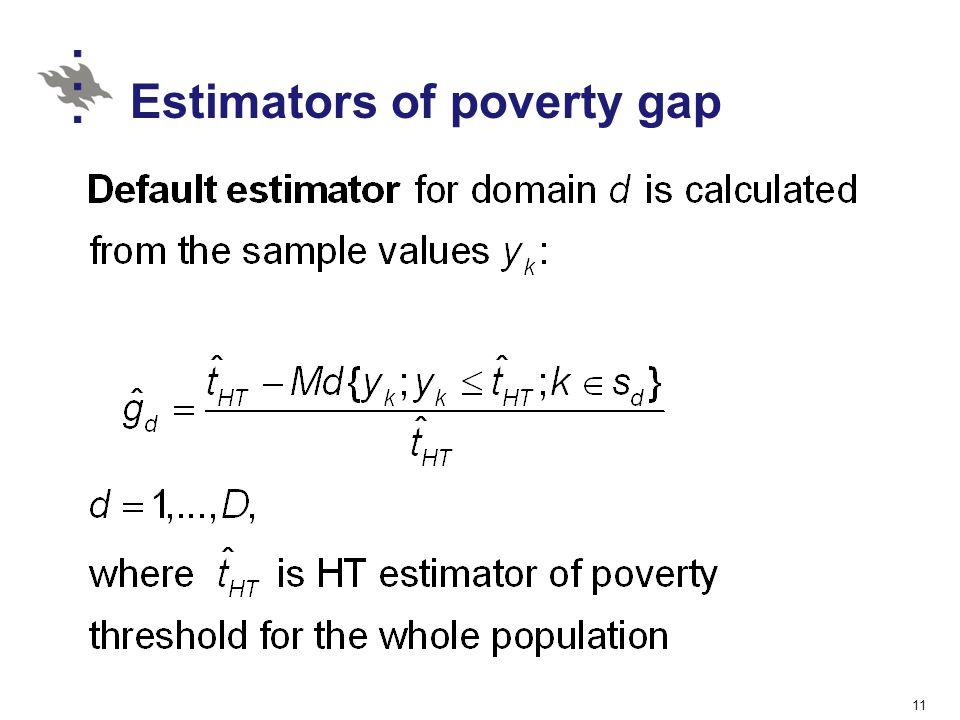 Estimators of poverty gap 11