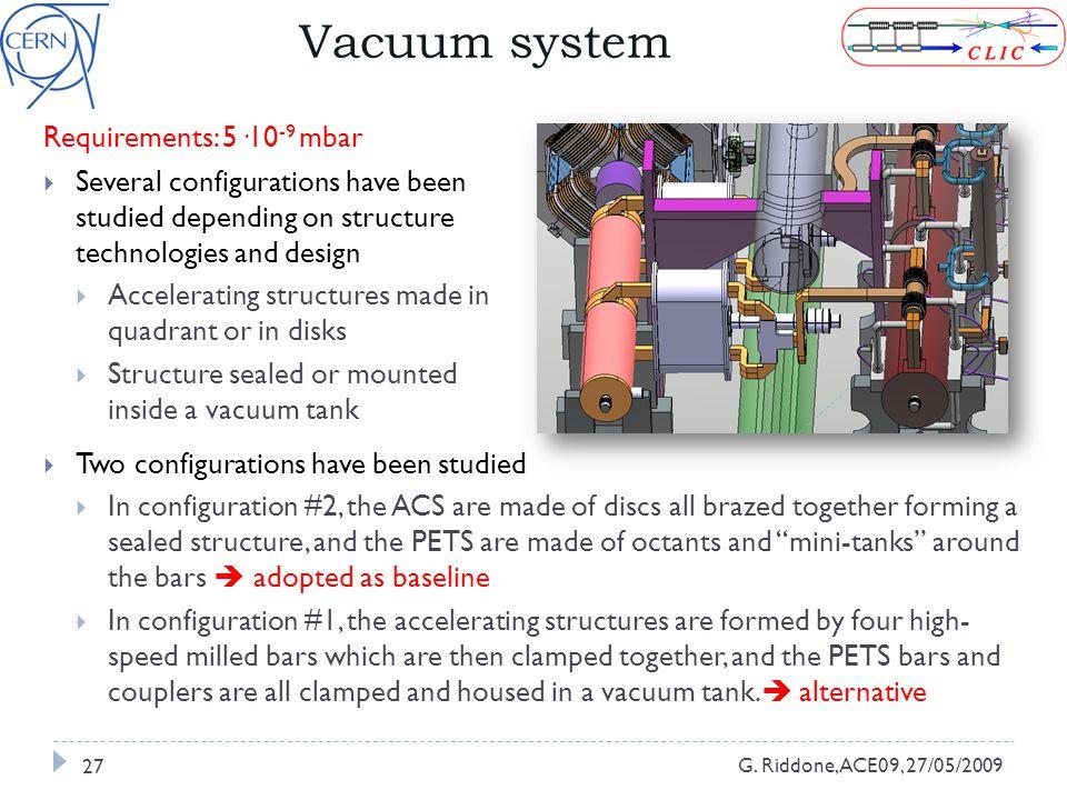 Vacuum system G.