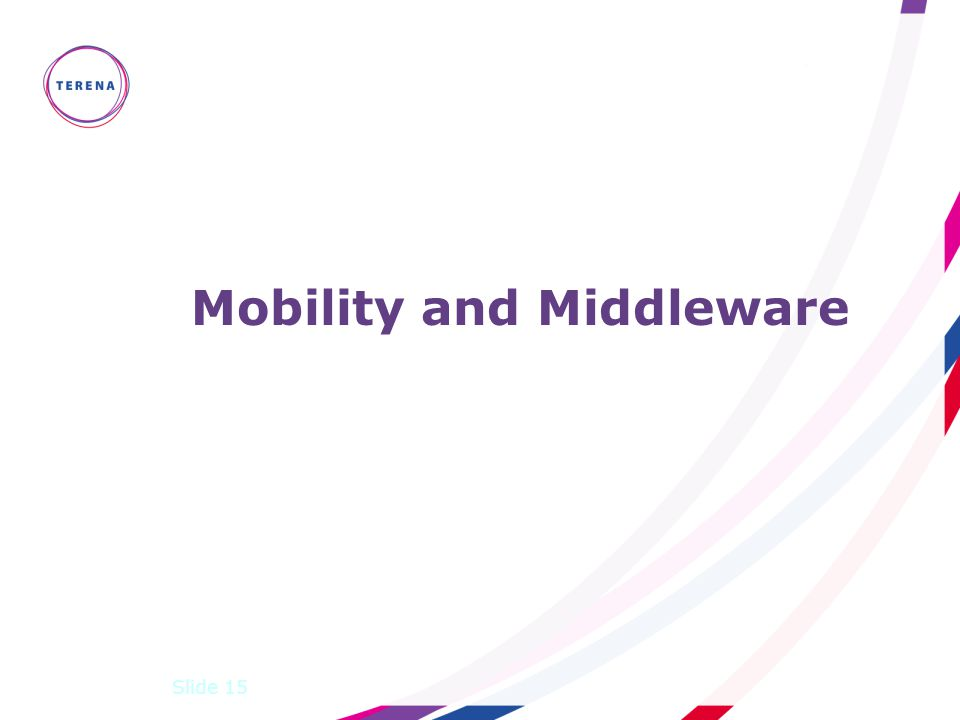 Mobility and Middleware Slide 15