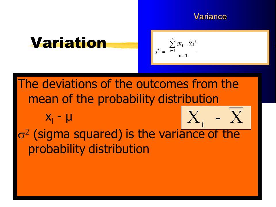 Variance of discrete random variable X