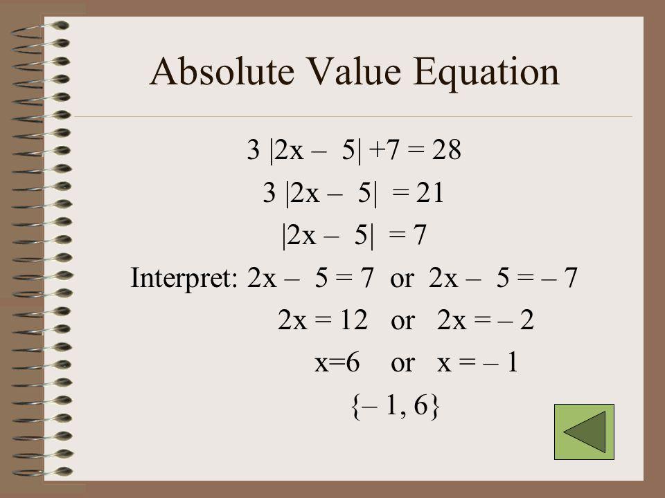 Linear equation 3(x + 5) – 7 = 4x – (x+3) 3x + 15 – 7 = 4x – x – 3 3x + 8 = 3x – 3 8 = – 3 No Solution