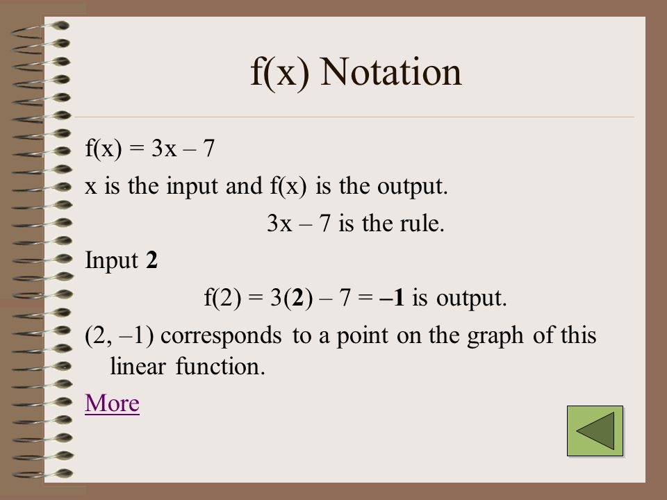 Range The set of all outputs of the function. Since this variable is usually called y, the range is the set of all values for y.