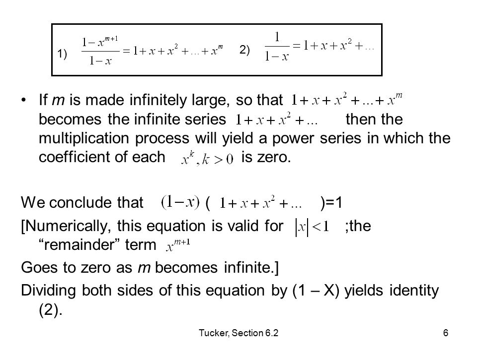 Tucker, Section 6.27 Expansion (3), the binomial expansion was explained at the start of section 6.1.