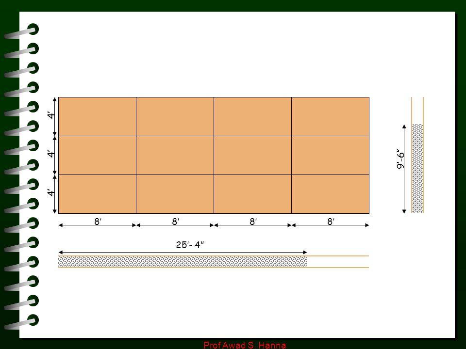 "Prof Awad S. Hanna 4' 8' 9'-6'' 25'- 4"""