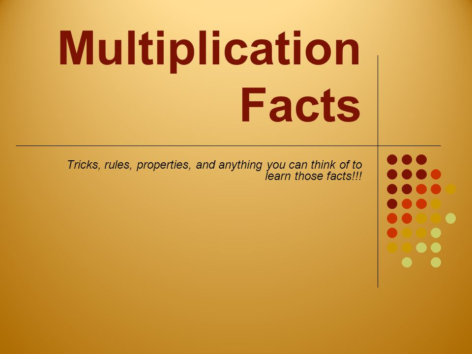 Multiplication Facts 0-12 Chart Did you put your name on your chart?!?!?