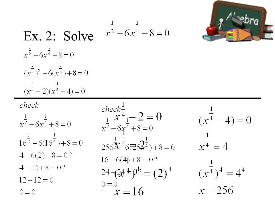 Ex. 2: Solve