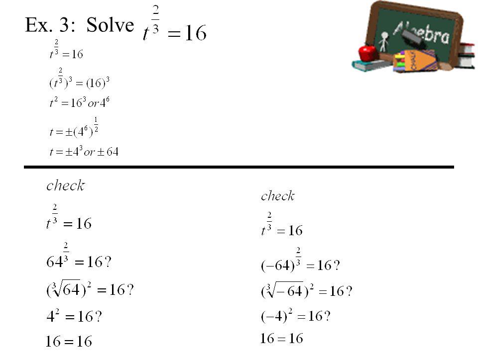 Ex. 3: Solve