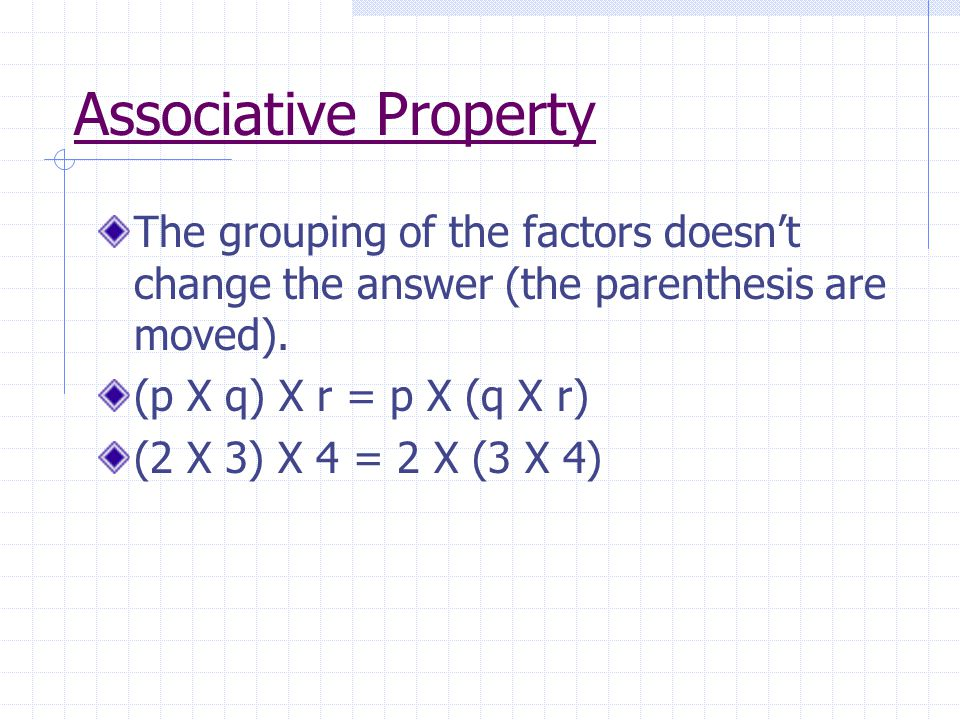 Distributive Property To multiply a sum by a number, you can multiply each addend by the number and then add the products.